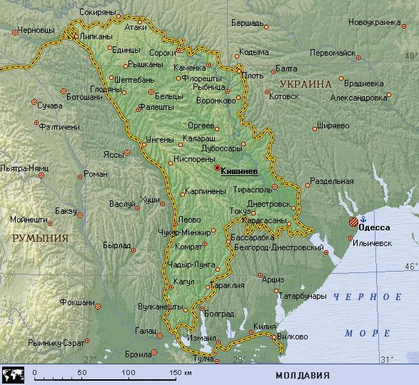 Карта Молдовы